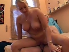 Huge natural tits housewife adores to switch positions