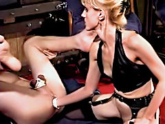 Mature milf dominatrix anal strapon and cumshots